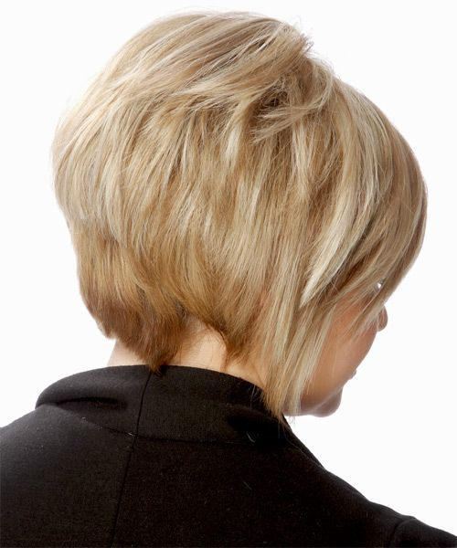 short straight hairstyles | Short Straight Formal Hairstyle - Light Blonde (Golden) - side view 1