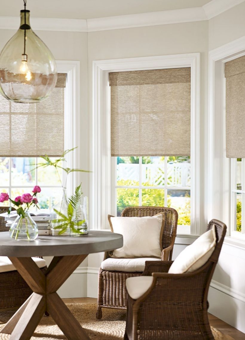 Kitchen window no trim  stylish living room curtains ideas with blinds   living room