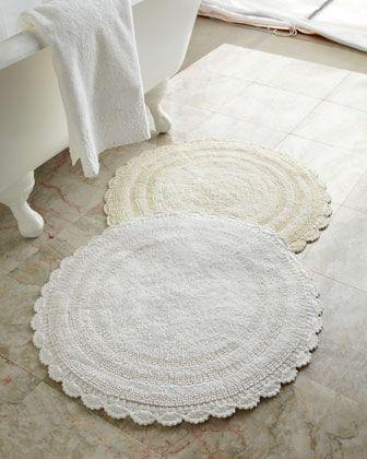 Crochet Edge Bath Rug