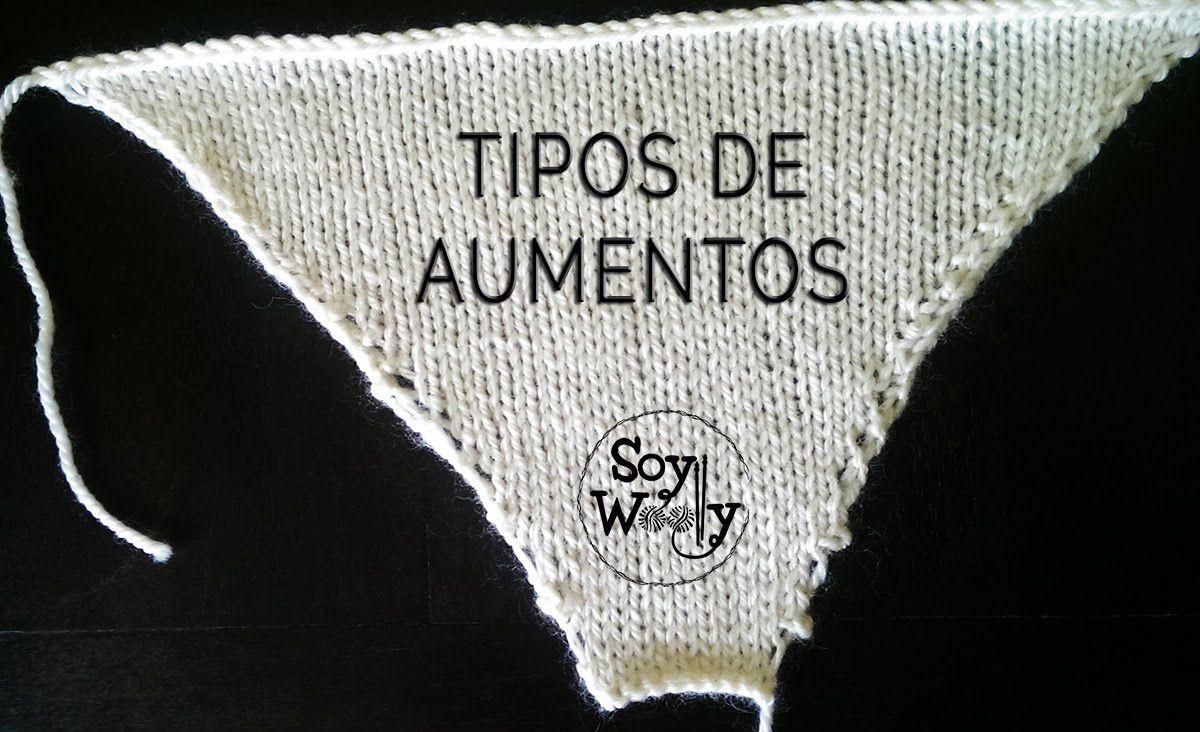 Cómo hacer AUMENTOS con dos agujas, punto, palillos, tricot ...
