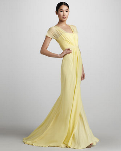 Yellow wedding gowns yellow weddings gowns and pale for Yellow dresses for weddings