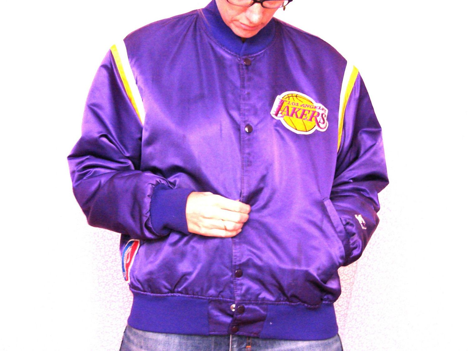 923b56858 Vintage 80 s Los Angeles Lakers Starter Jacket from Bottomfeeder.  105.00