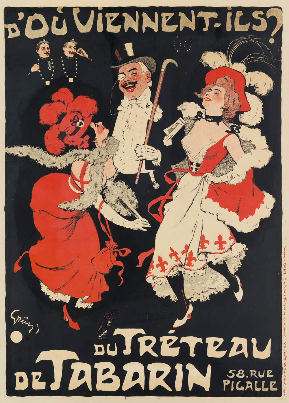 repro vintage travel poster Tabarin Paris