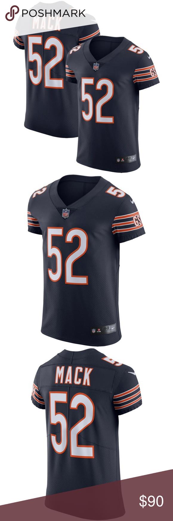 Men S Chicago Bears Khalil Mack Nike Navy Vapor El Get This Vapor Elite Jersey From Nike And Show Off Your Chicago Bears Spirit Chicago Bears Nfl Shirts Mack