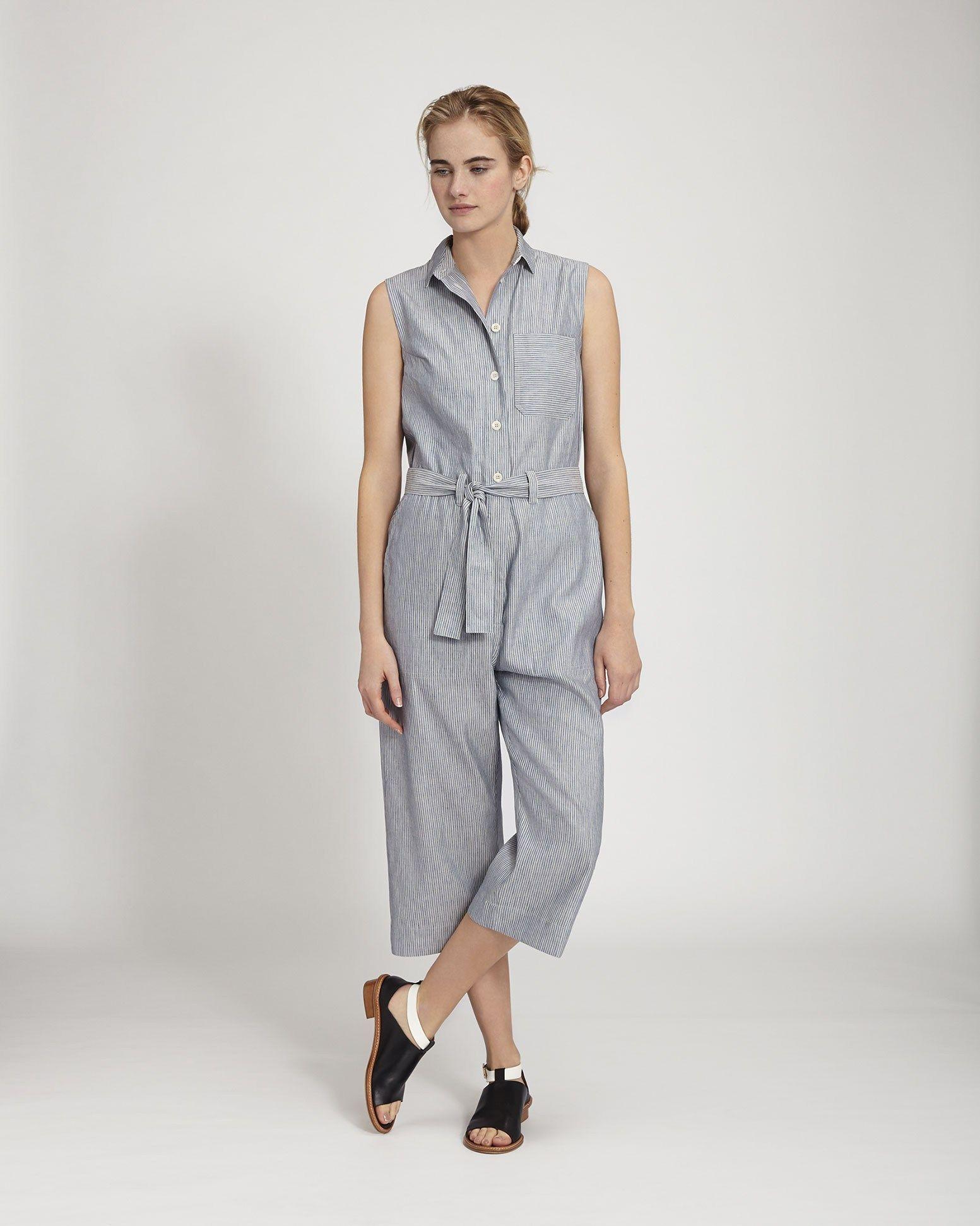 cb43c9ea86 Women s Indigo Linen Cotton Fantine Jumpsuit