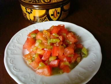 Morocco's Famous Salsa-Like Salad with Tomatoes and Roasted Peppers: Tomato and Roasted Pepper Salad