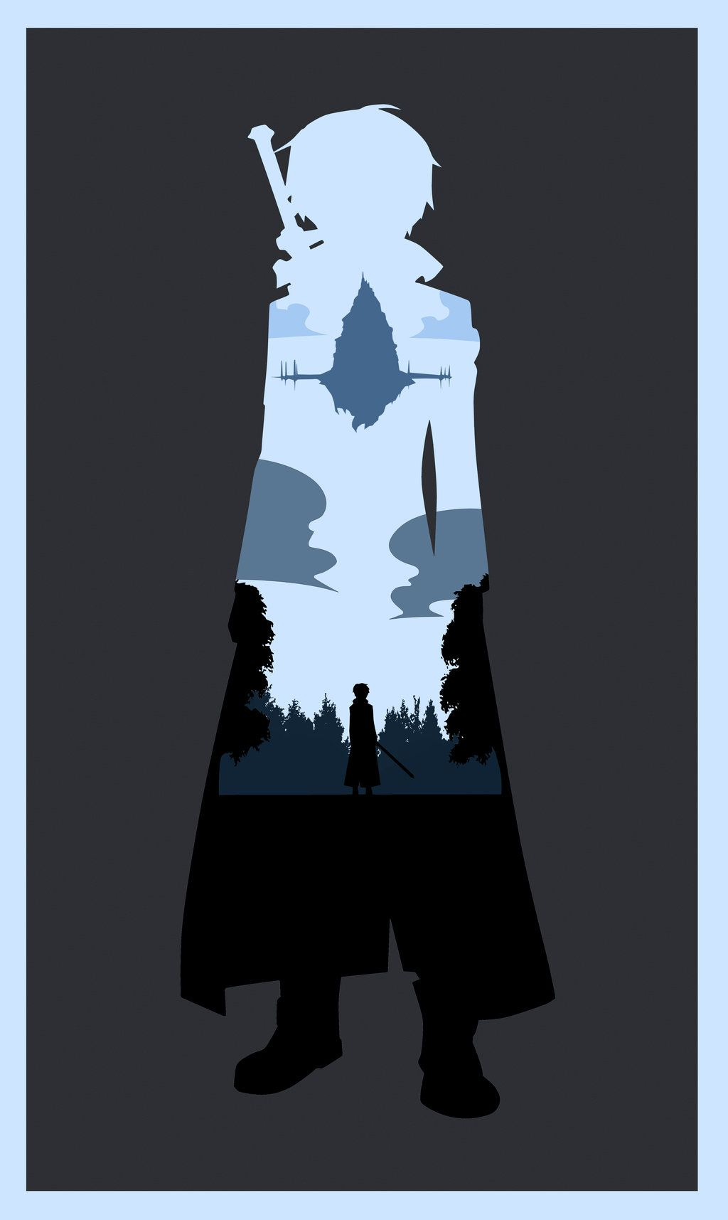 sword art online i will reach the top poster by creative2bit on