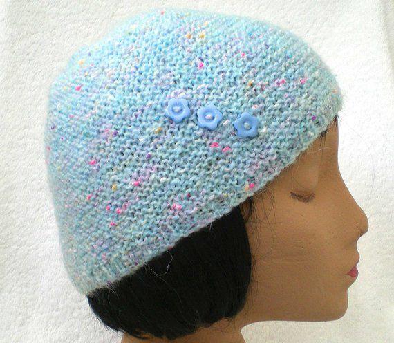Pastel Blue Green Beanie Hat 4cc41f1903a