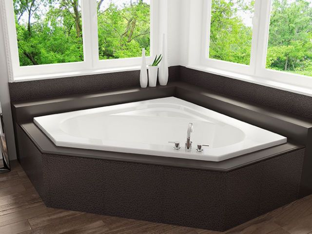 mirolin 60-inch corner soaker tub | plumbing, sinks, toilets