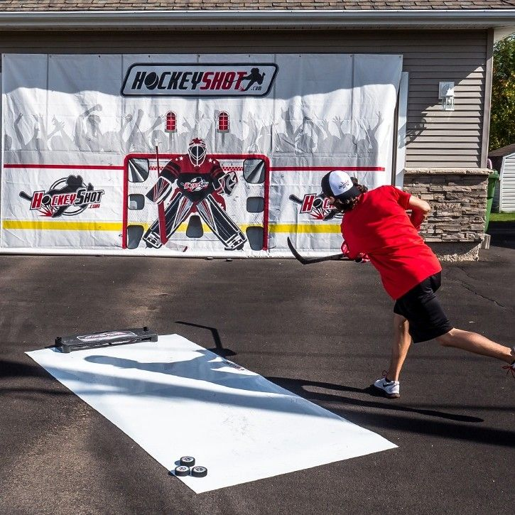 Crowd Goes Wild Shooting Tarp   Backyard hockey rink