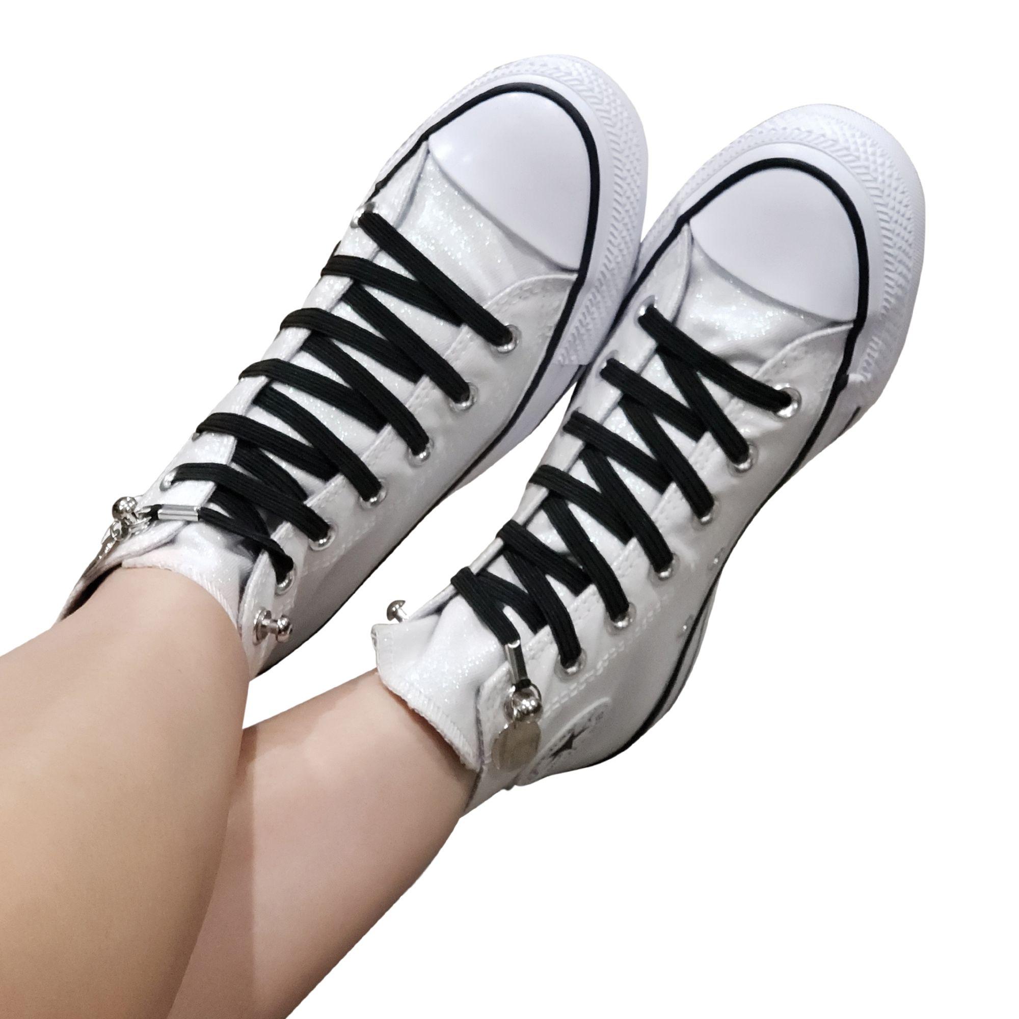 No Tie Shoelaces on Converse High Top