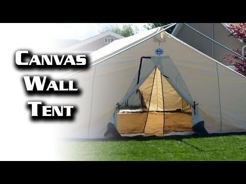 16x20 Canvas Wall Tent from Davis Tent u0026 Awning - YouTube & 16x20 Canvas Wall Tent from Davis Tent u0026 Awning - YouTube | Tent ...