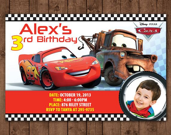 Personalized Disney Cars Lightning Mcqueen Tow Mater Diy