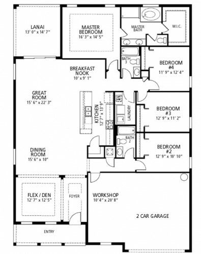 Maronda Homes Harmony Floor Plan Floor Plans House Floor