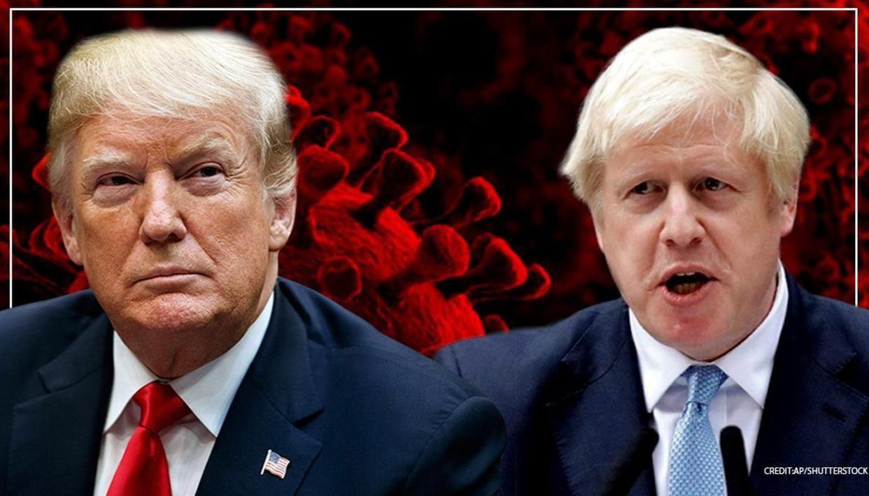 Trump speaks with UK PM Johnson, wishes him speedy