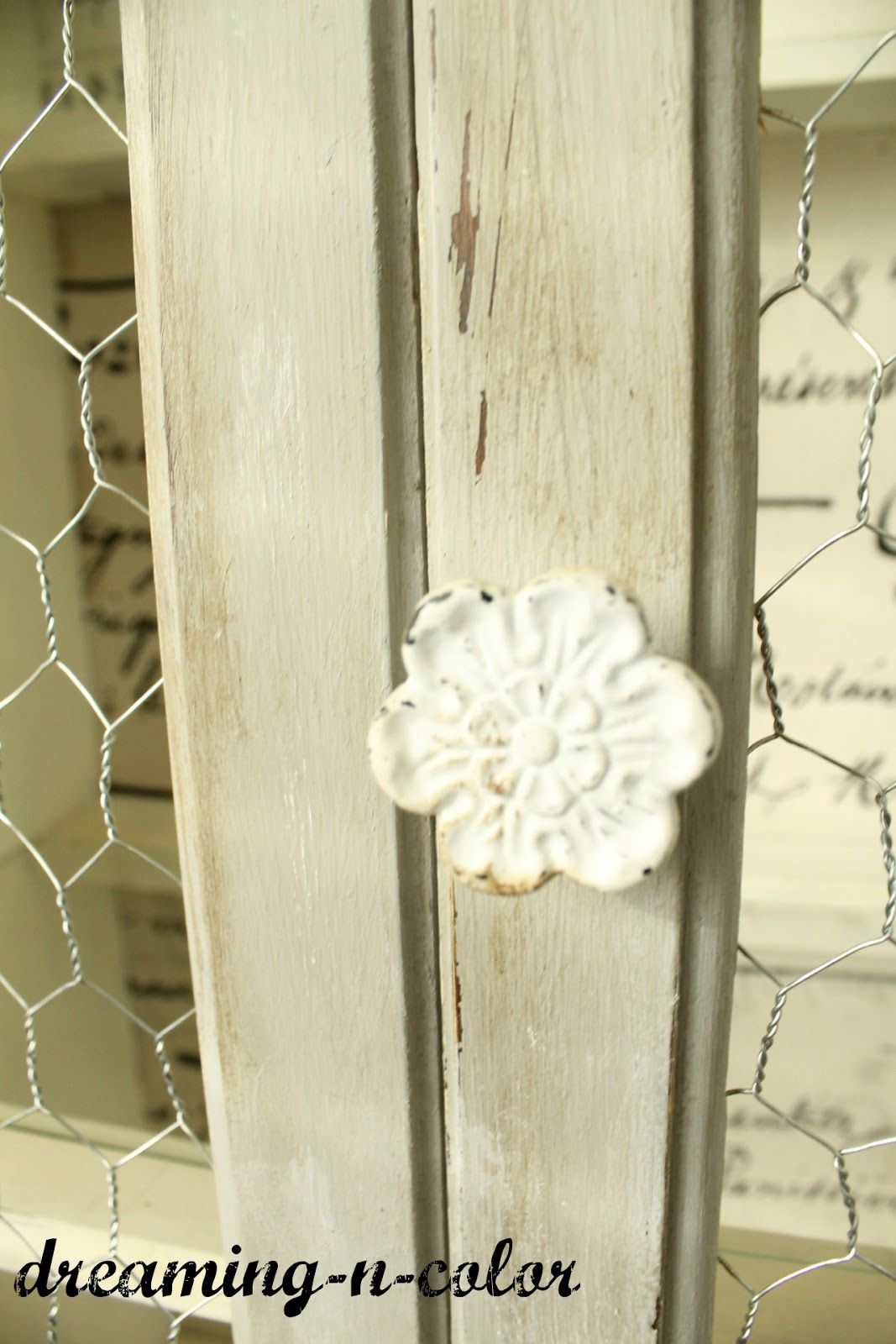dreamingincolor: French Farmhouse Hutch~Gotta see all the details of this hutch!!