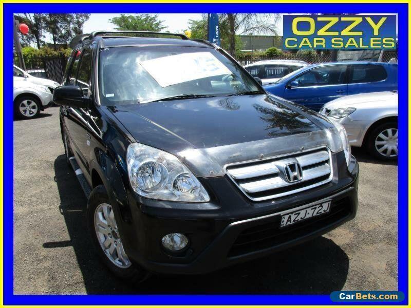 2006 Honda CR V 2005 Upgrade (4x4) Sport Black Automatic 5sp A Wagon