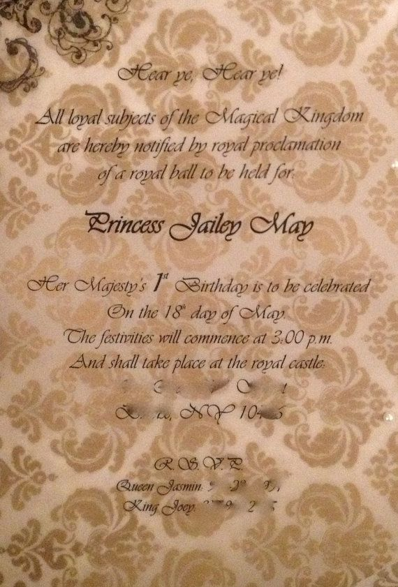 Royal Ball invitation (sample of inside) 2013 Creations - best of invitation wording lunch to follow