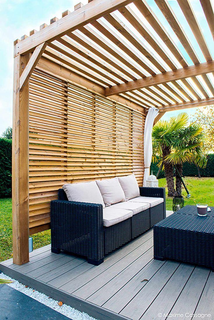 un jardin design chez soi : terrasse de style par e/p espace design – emilie peyrille, moderne bois effet bois