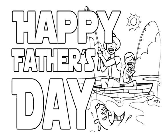 fathers day card coloring pages - photo#20