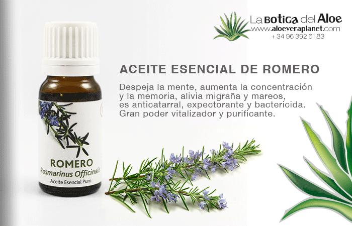 propiedades del aceite esencial de romero en aromaterapia