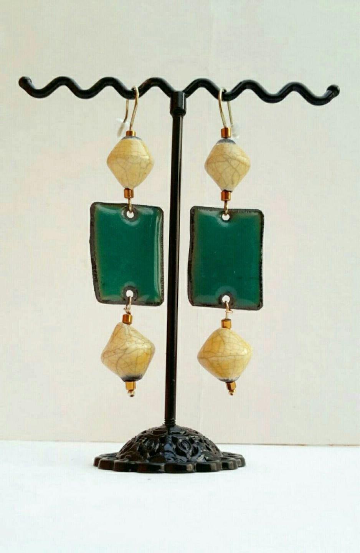 Boucles d'oreilles ethniques bohèmes chic *Nature* : Boucles d'oreille par echappee-perles