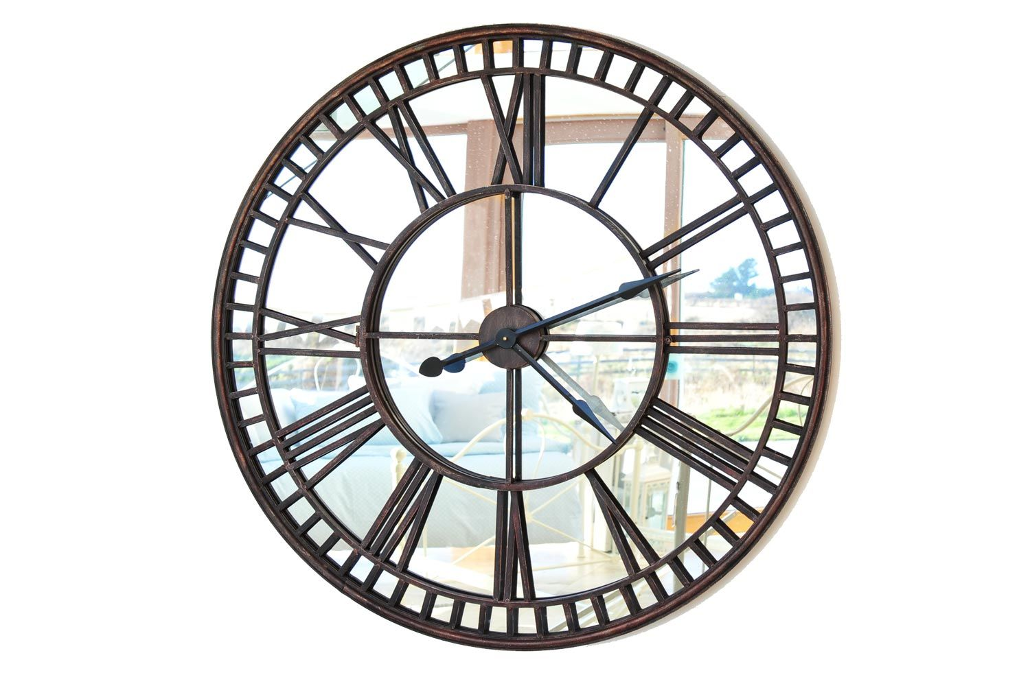 Roman Numeral Mirror Clock From Harvey Norman Ireland