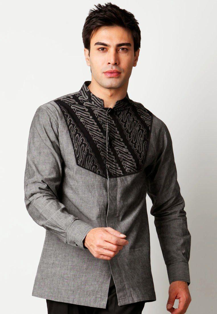 Contoh Model Baju Muslim Pria Modis Lengan Panjang  54f6646f30