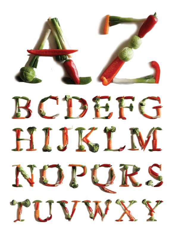 We'd love to use this veggie font for a cookbook! Looks good enough to eat