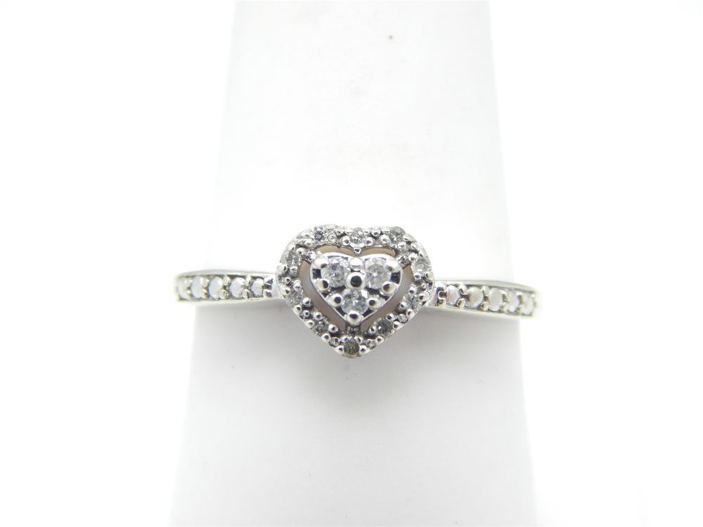 10k White Gold Diamond Heart Ring 25 Tcw Size 7 75 Gift Box Included Band Best Price 14k Yellow Gold Design Ring 14k Yellow Gold Design Ring Best Price Cu