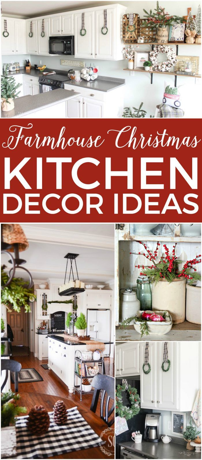 14 Fabulous Farmhouse Christmas Kitchens Farmhouse