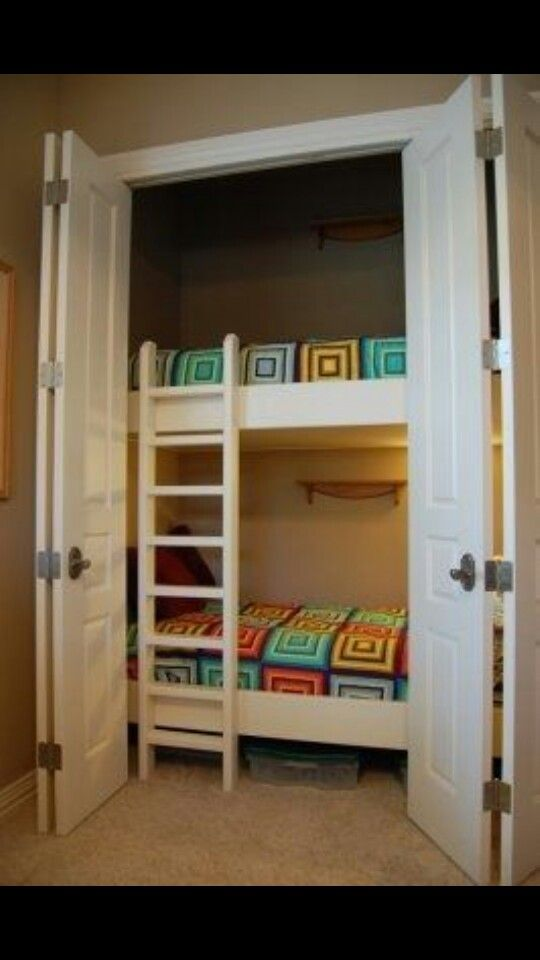 Best Hide Away Closet Bunk Beds Bed In Closet Creative Kids 400 x 300