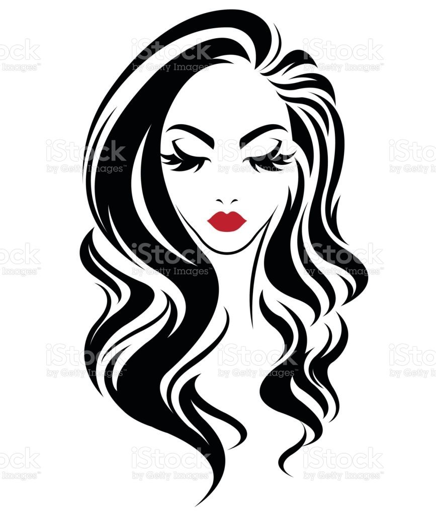 Illustration Women Ponytail Hair Style Icon Stock Vector Vector Ponytail Icon Hair Illustration Face Long S In 2020 Sillouette Art Art Drawings Simple Woman Face