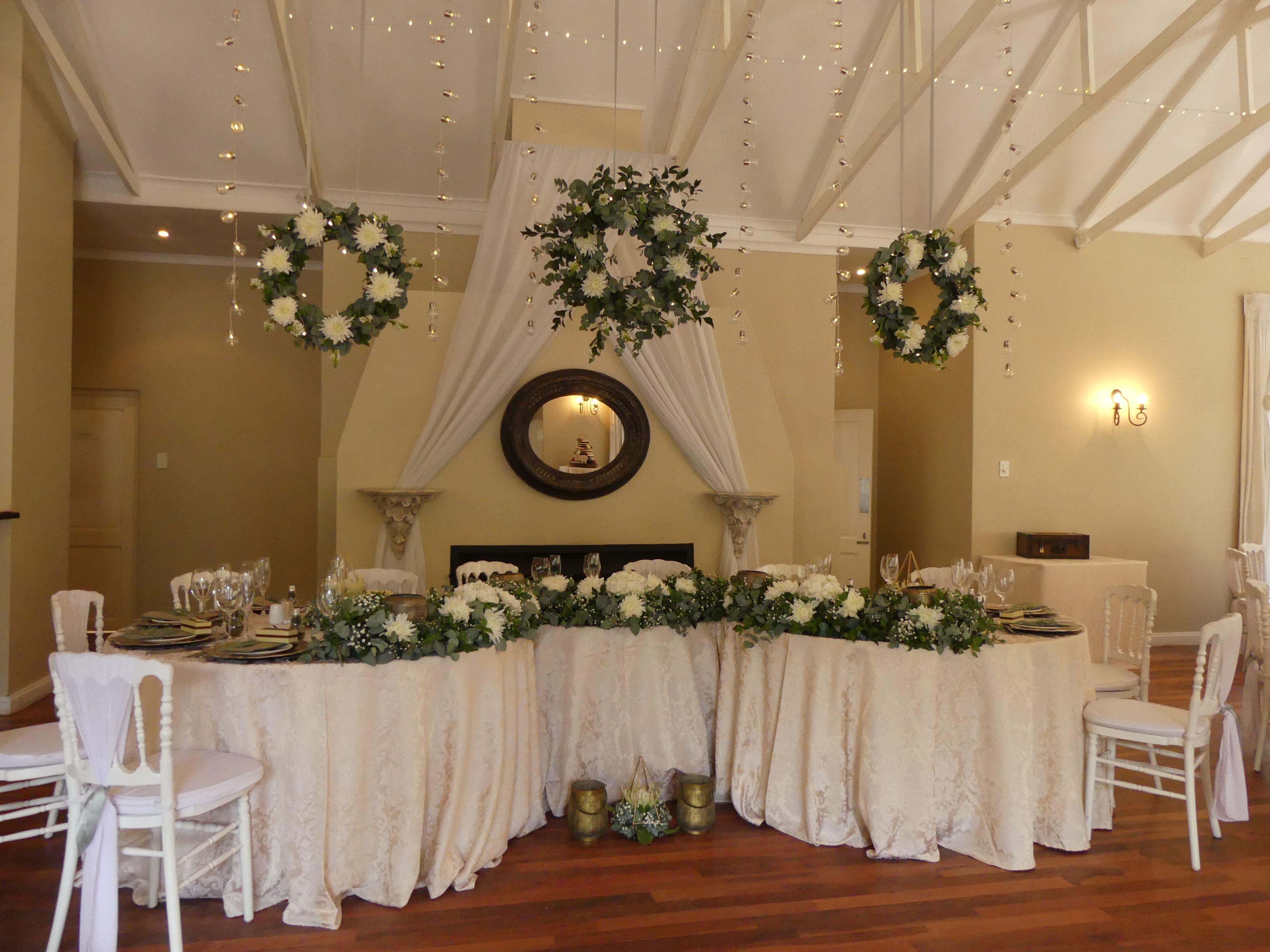 Beautiful Head Table Dressed With Greenery #Weddings #Weddingdecor #Portelizabethwedding #Easterncapewedding