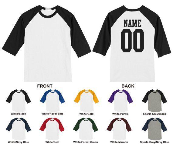 966d74edb6dc04 Personalized custom adult raglan baseball 3 4 length sleeve t-shirt ...