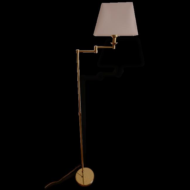 lampadaire liseuse vintage en laiton