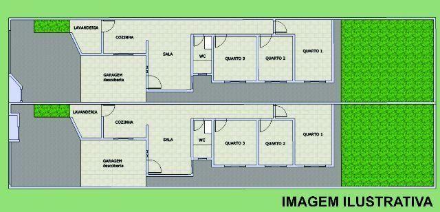 Casa Nova com 3 quartos, no asfalto, na região mais bonita do Aero Rancho (165.000,00)