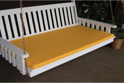 A L Furniture Sundown Agora 75in Swing Bed Cushion Twin Size