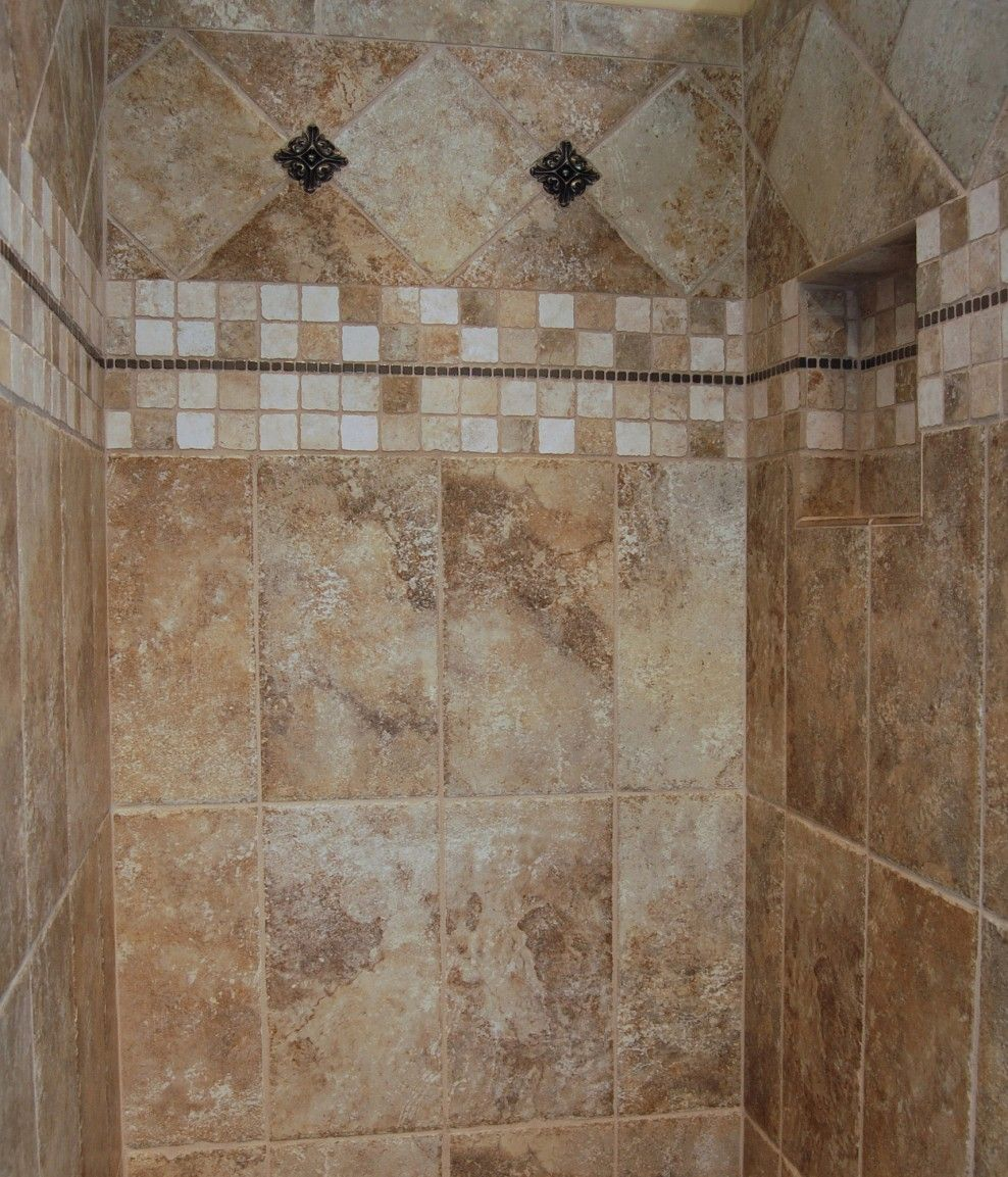 tile pattern ideas neutral bathroom ceramic tile design ideas gallery serbagunamarine - Shower Tile Design Ideas