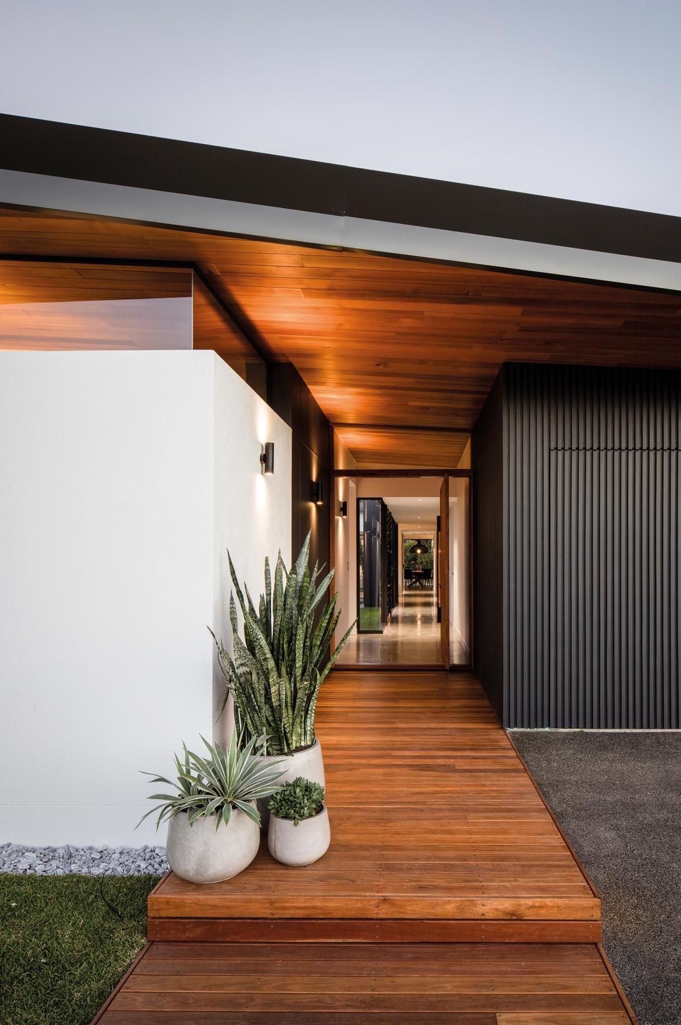 Exciting Modern Front Doors Ideas For Modern Home Design: Tour A Modern Light-filled Home Built On A Golf Course