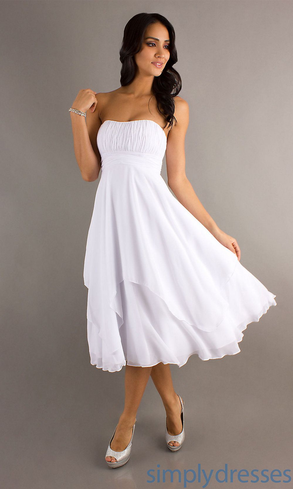 Semi formal dresses for wedding reception  Mori Lee  Knee Length SemiFormal Dress  Simply Dresses