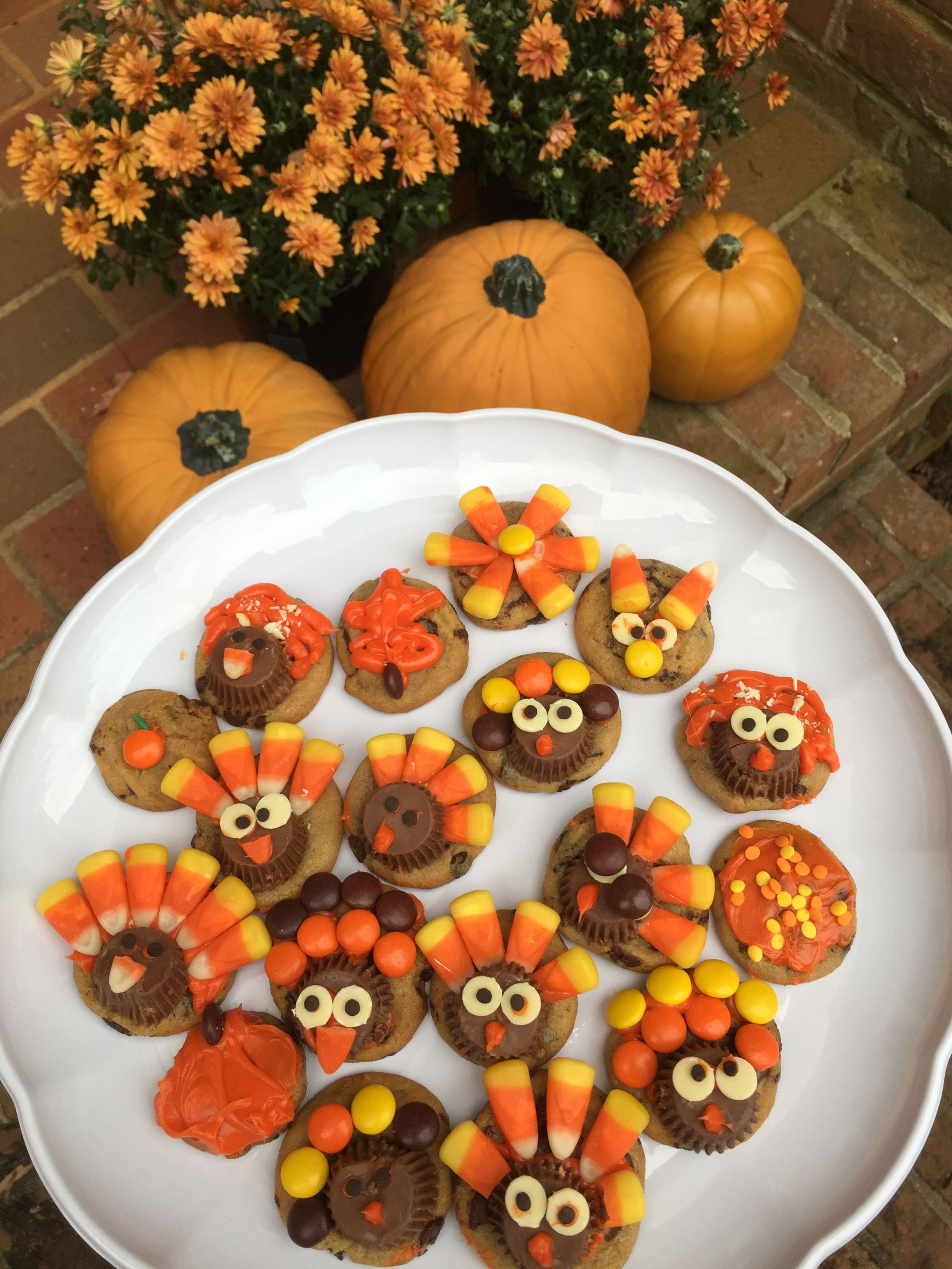 Thanksgiving And Fall Themed Cookies Candy Corn Reese