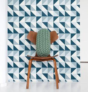 1000 images about le papier peint decodeuse on pinterest pineapple wallpaper bedhead and search - Papier Peint Bleu Geometrique