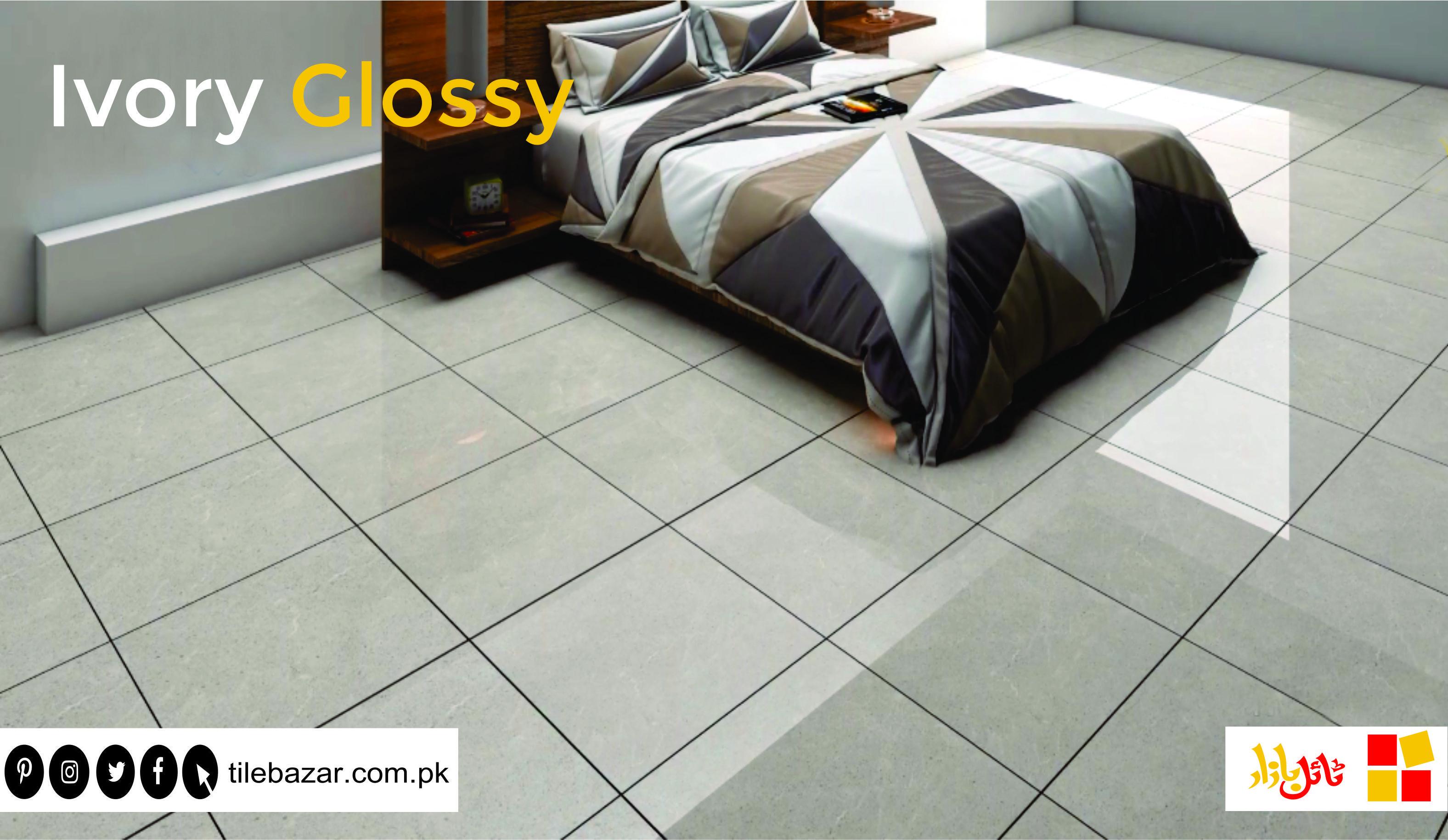 Ideal Ivory Glossy Tiles For Your Floor Visit Our Nearest Outlet For Floortiles Walltiles Ceremicstile Porcelaintile Homed Tile Floor Flooring Wall Tiles
