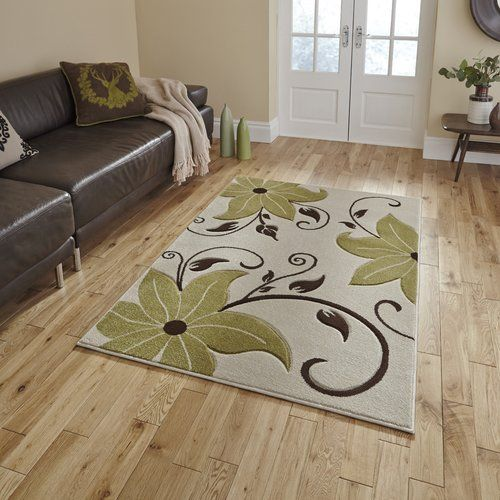 17 Stories Rikki Beige Green Area Rug Floral Rug Contemporary Rugs Grey And White Rug