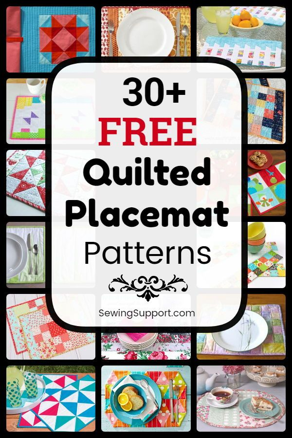 Placemat Diy 30 Free Quilted Placemat Patterns Tutorials And Diy Sewing Project Placemats Patterns Quilted Placemat Patterns Free Quilt Patterns Printables