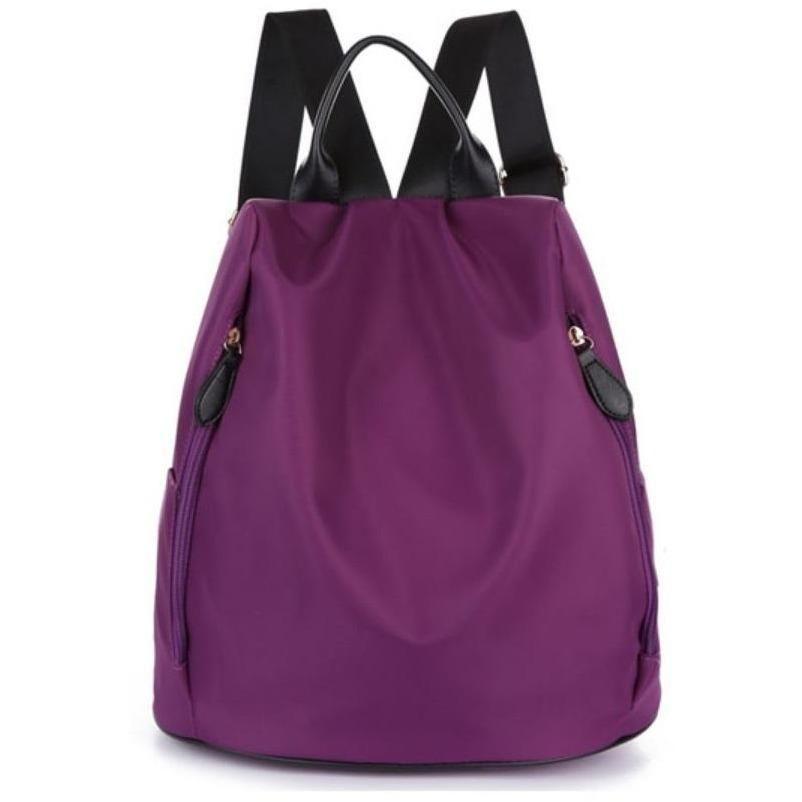 4ddd3eb451eb JeHouze Fashion Women Anti-Theft Handbag Nylon Backpack Water Resistant Casual  Bag(Purple)