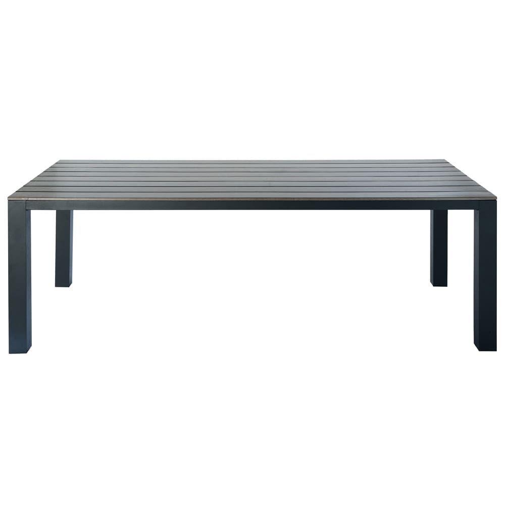 Gartentisch Aus Aluminium 8 10 Personen L230 Grau Anthrazit
