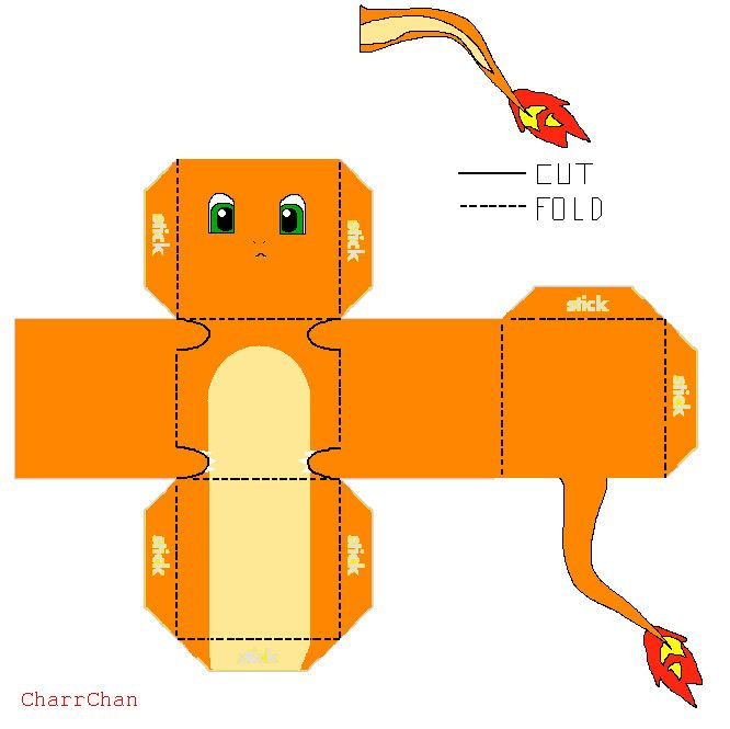 Charmander Papercraft By CharrChandeviantart On DeviantART