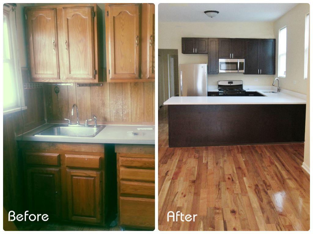 Investment Property Renovation Kitchen Before And After Property Renovation Kitchen Renovation Rental Property